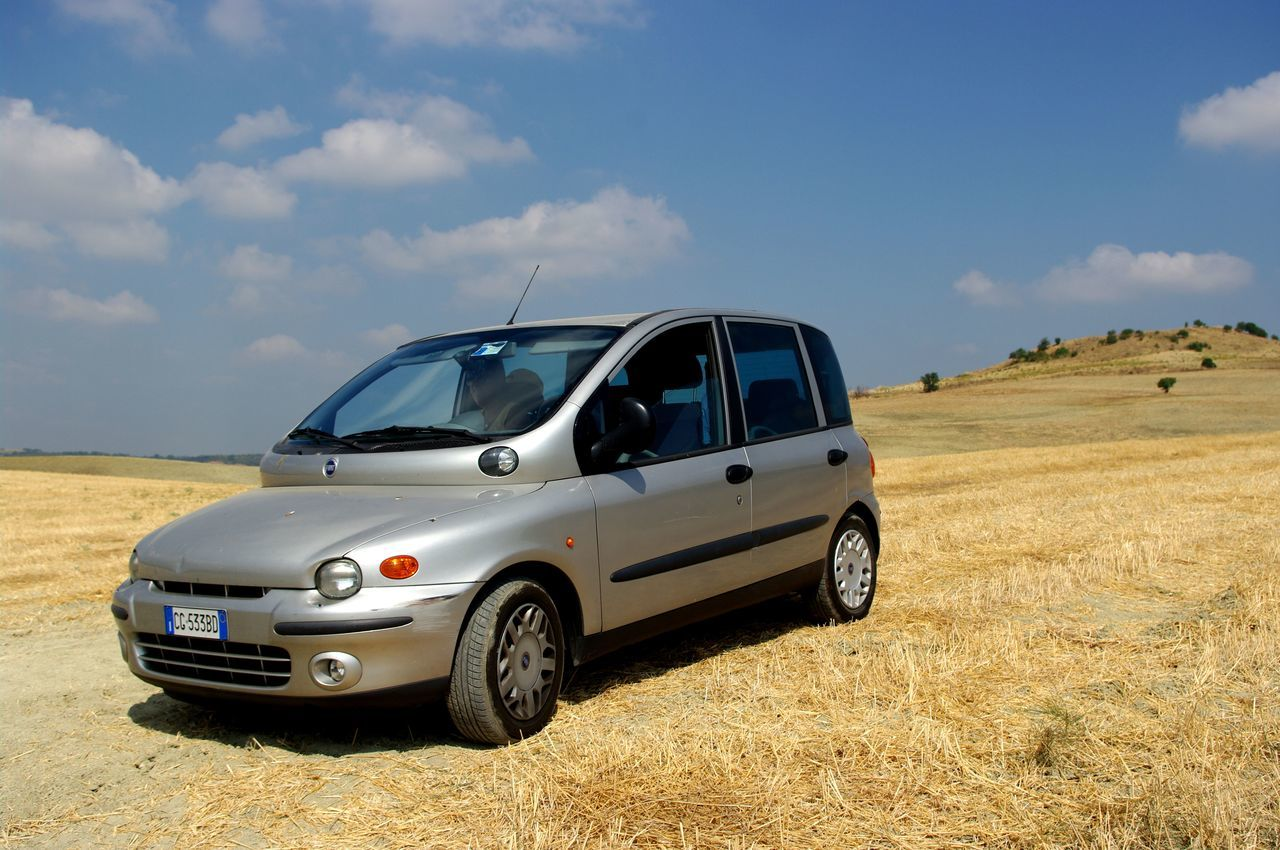 My Car on Tuscany hills Car Country Life Fiat Multipla Field Landscape Mode Of Transport On The Move Outdoors First Eyeem Photo