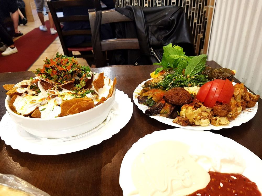 Food And Drink Food Plate Indulgence Freshness Temptation Ready-to-eat Table Serving Size Arabic Food Fatteh Falafel Makali Parsley Street Food