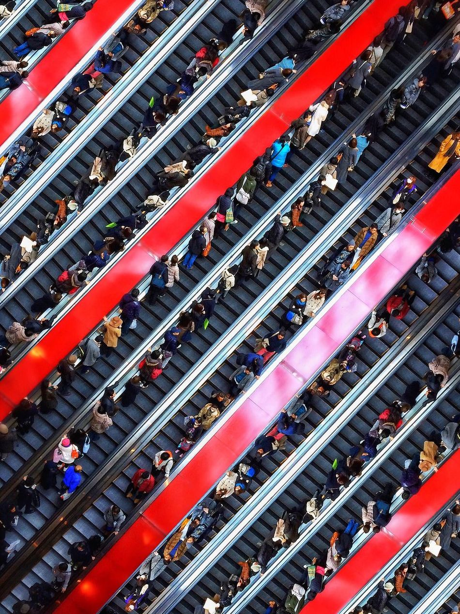 Beautiful stock photos of porträt, Backgrounds, Convenience, Crowd, Directly Above