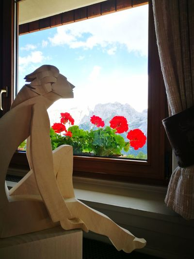 Window Indoors  Business Finance And Industry Home Interior No People Day Home Showcase Interior Sky Architecture Dolomites, Italy