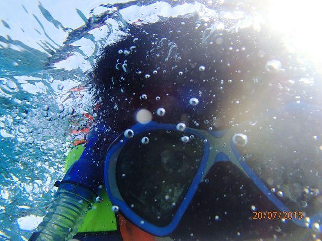 Hello fish 😎🐠🐟 🌊 Snorkle Snorkling, Pulau Tidung Tidungisland Sea Enjoying Life Vacation Underwater Hello World
