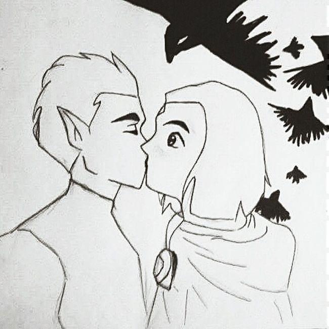 Art Teentitans Raven Drawing Me L4l