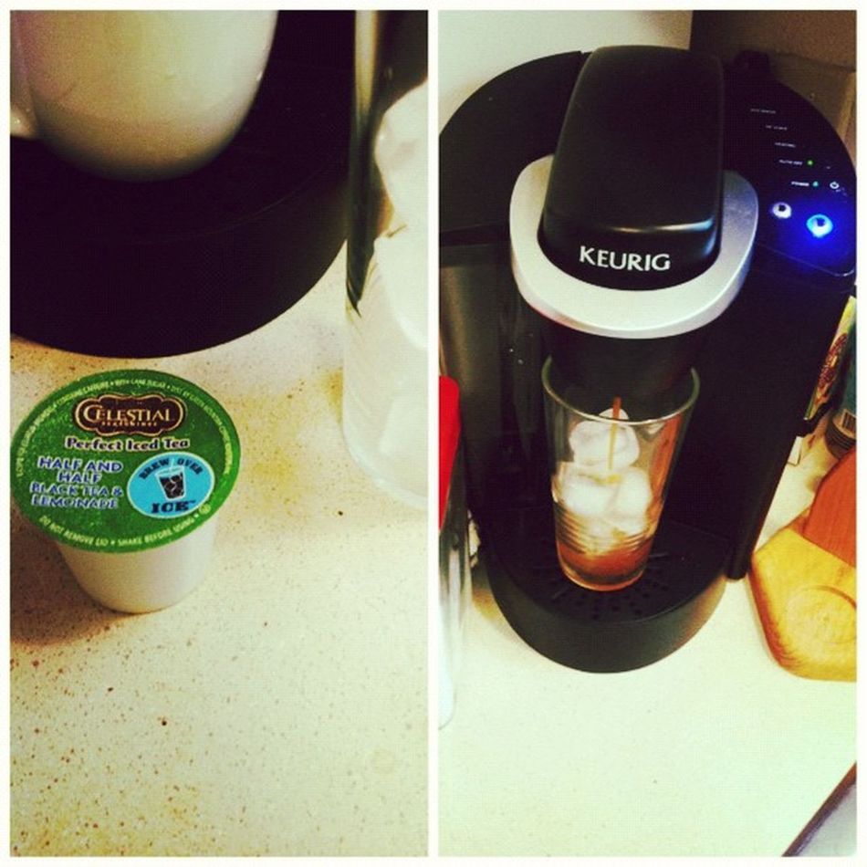 Tea time? Picstitch  Lovemykeurig Kcup Halfandhalf tea lemonade