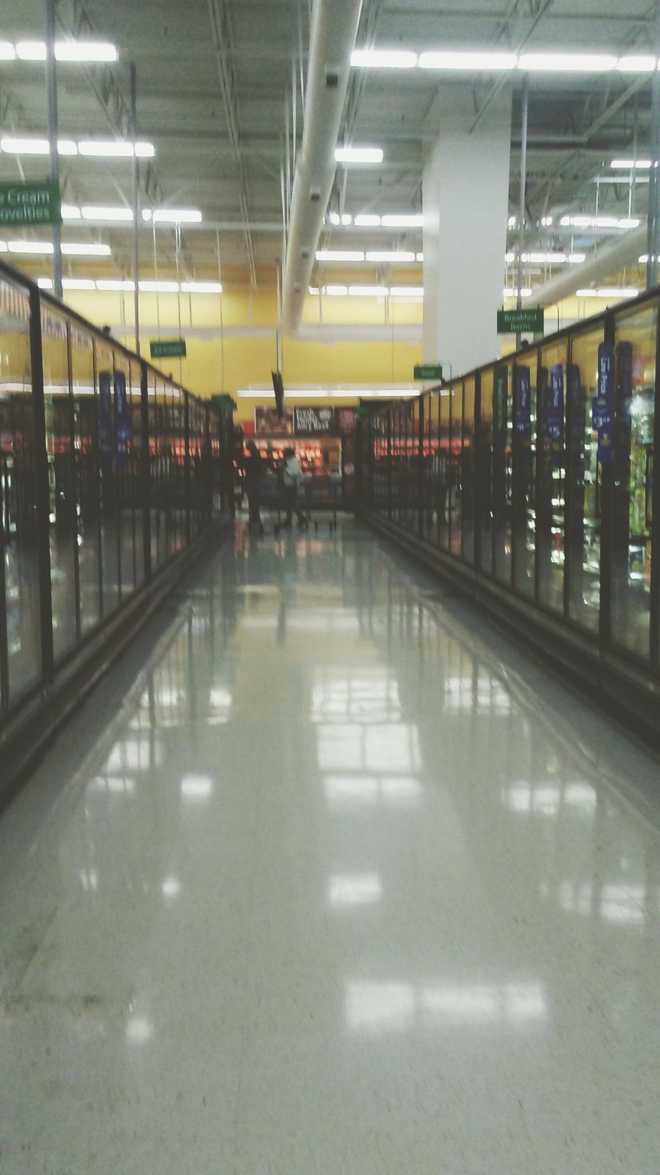 You can find beauty in the most unexpected, my dear.. Even in grocery stores. Indoors  Illuminated Supermarket Shelf People Architecture Day Walmart