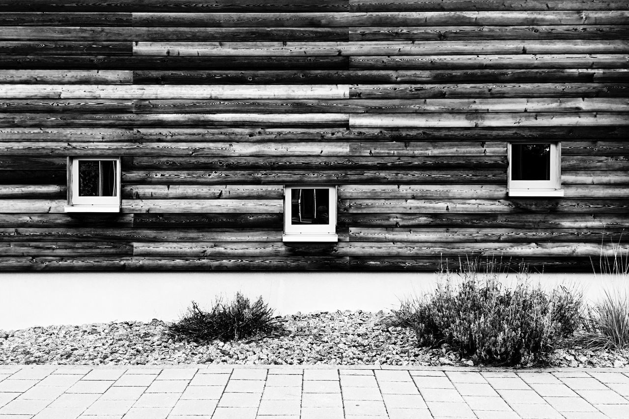 Street By Wooden Building