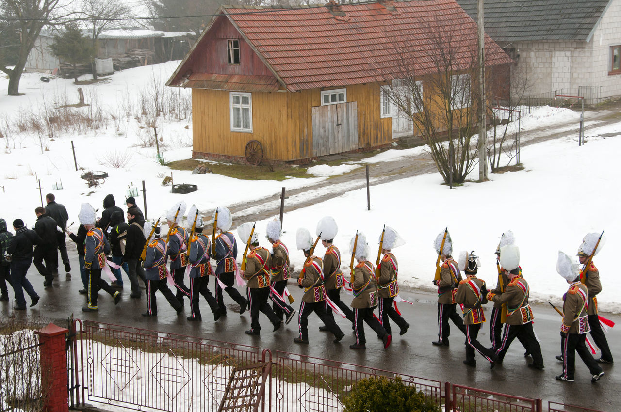 """Polish """"Turki"""" Guards Marching on Easter Guards Poland Turki Large Group Of People Men"""