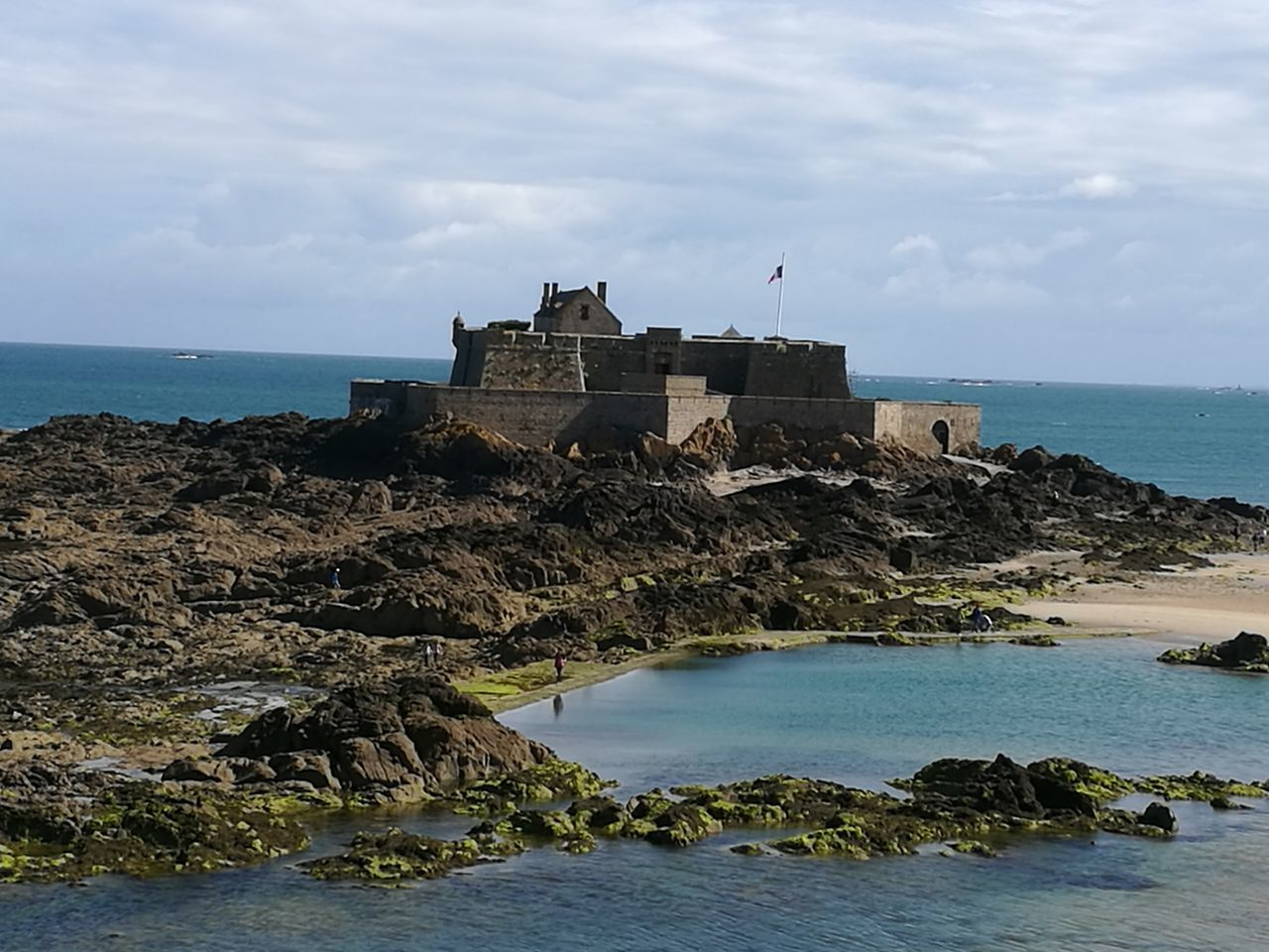 Fort National Saint-Malo Battlements Bretagne Manche Rock And Sea Beauty In Nature Historical Monuments French Heritage Holidays Architecture