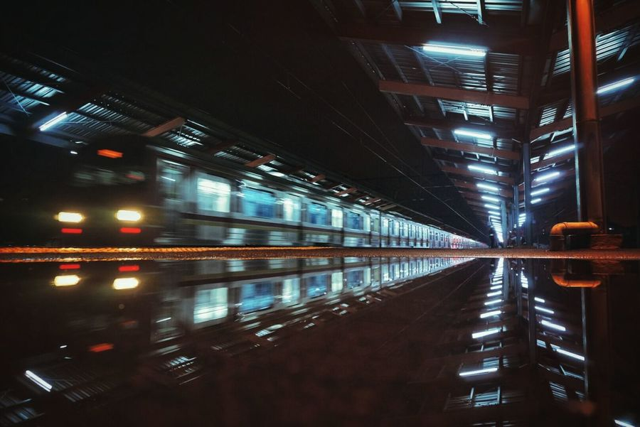 Reflection Travel Photography Trainstations Trainphotography Transportation Masstransport Masstransportation Publictransport INDONESIA
