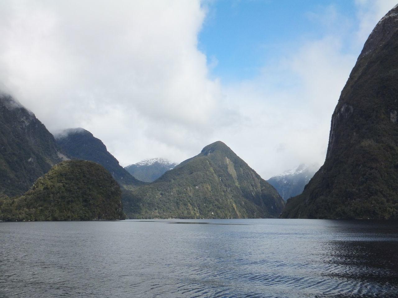 Doubtful Sound New Zealand Fiord Fiordland South Island Tourist Destination Water