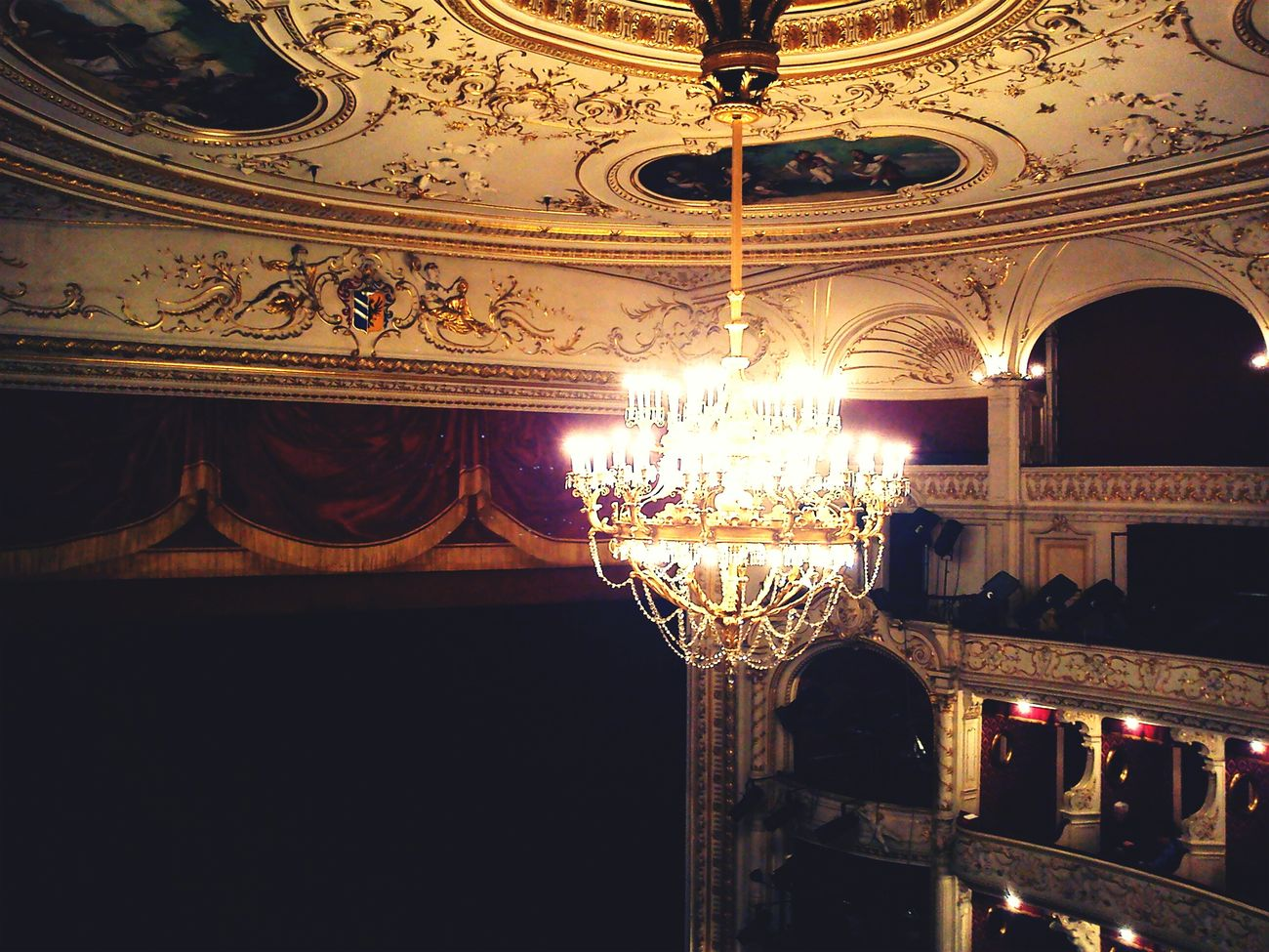 Theatre Chandelier. Szeged Szegedcity Szegedforever♥ Szegedi Hungary Szeged Eyeem Szeged Life In Szeged Theater Light
