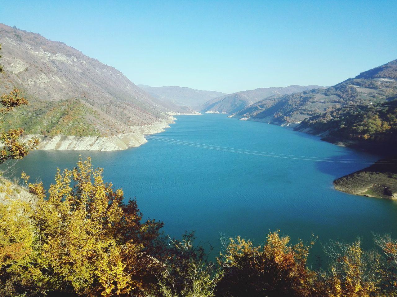 Landscape Nature Nature Art Colorfull View Water Blue Yellow Autumn Autumn Colors Iran Mazandaran Irantravel