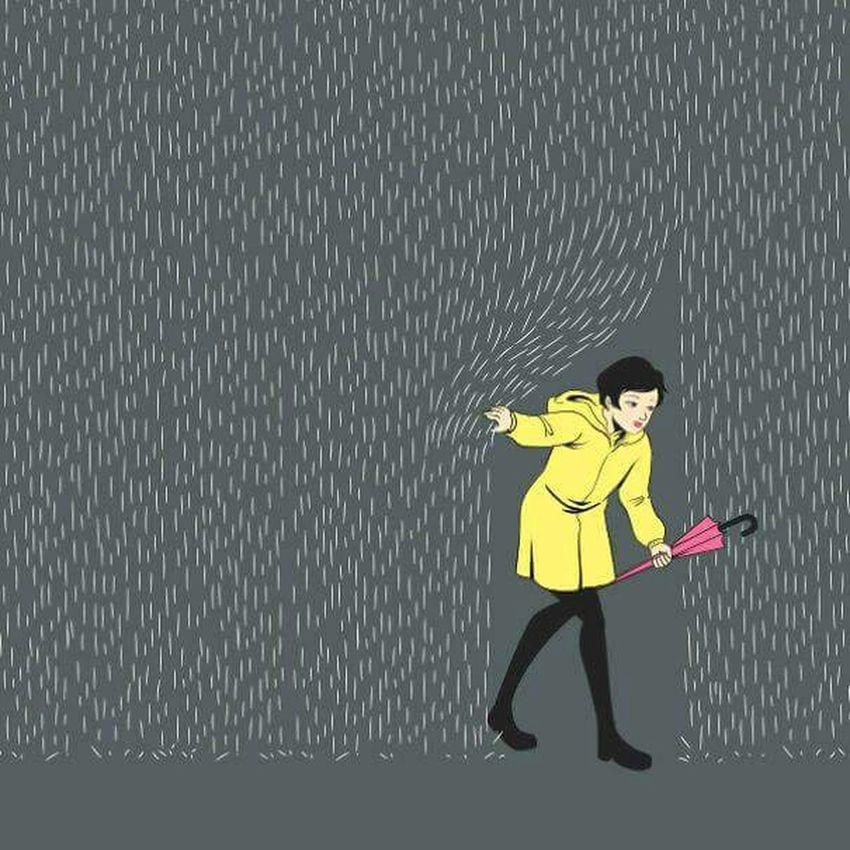 Rain Umbrella Caricature Hello World HelloEyeEm Hello World EyeEmTurkey Popular Photos