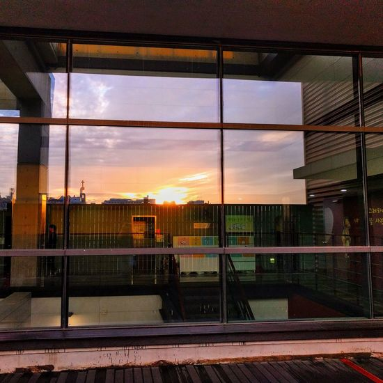 Window Cloud - Sky Sky Architecture Sunset Built Structure Building Exterior No People Outdoors City Day Nature