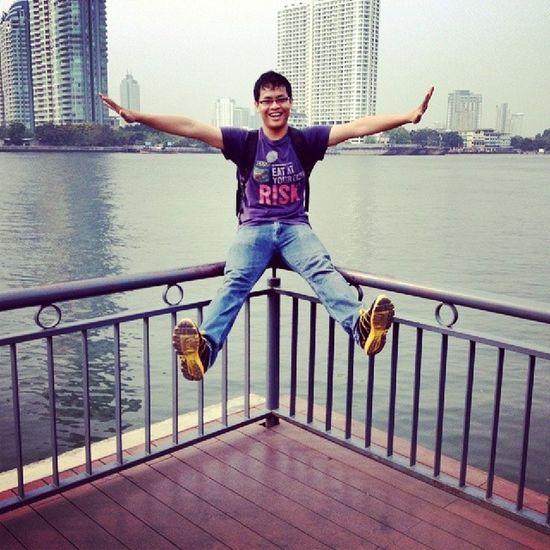 Such a happy day with a happy boy Meself !! Chaophraya BKK