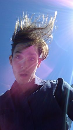 I looked down for a second to see my hair like this, Out of impulse, I snapped a shot. Turned out to be a great self shot in my opinion! Haha. Adult Blue Sky Crazy Hair Crazy Moments Day Hair Hair In The Wind Hairstyle Headshot In The Moment Man One Person Outdoors Person Personality  Perspective Portrait Selfie Selfshot Shocked Face Sky Sunny Sunshine Young Adult Young Man