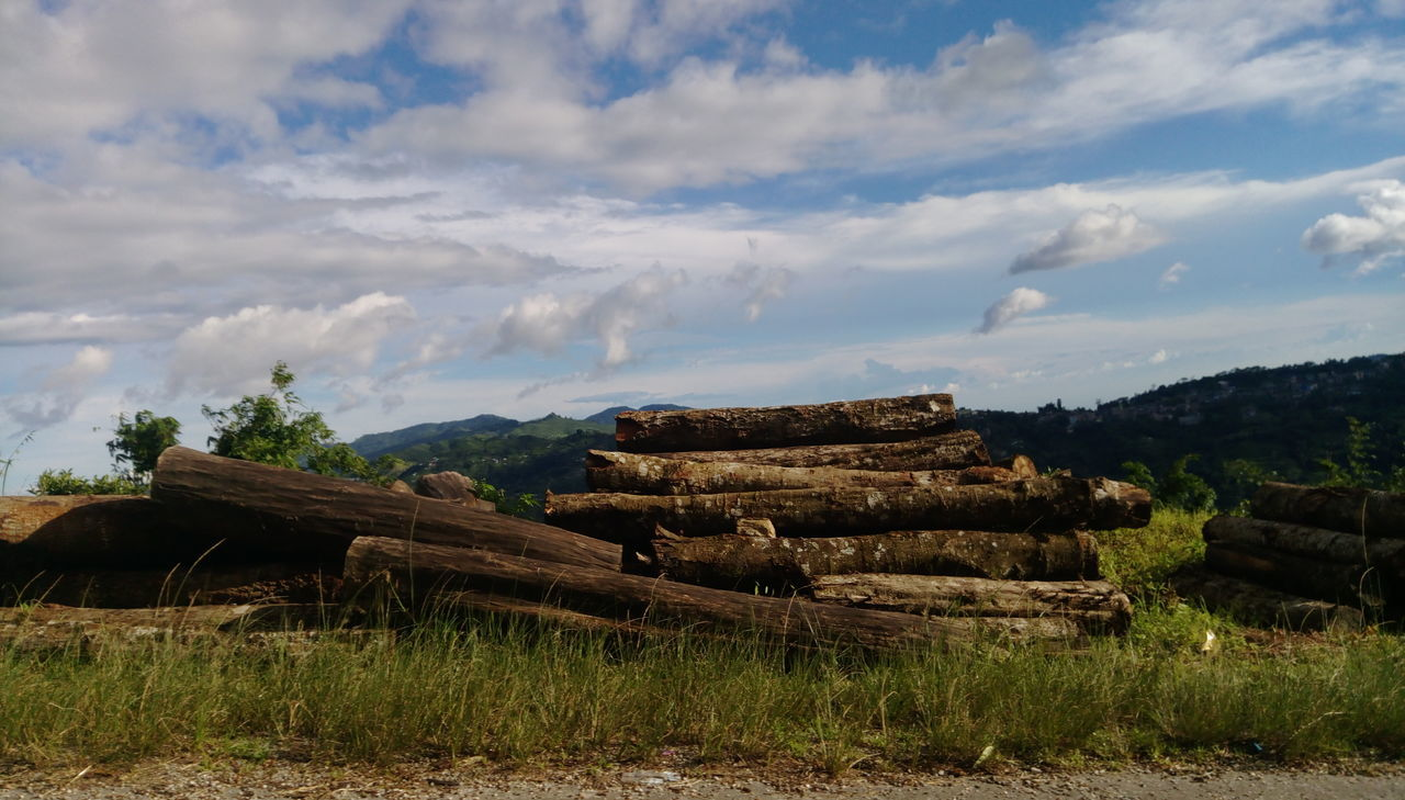First Eyeem Photo Woodlog Blue Sky Clouds And Sky Naturephotography
