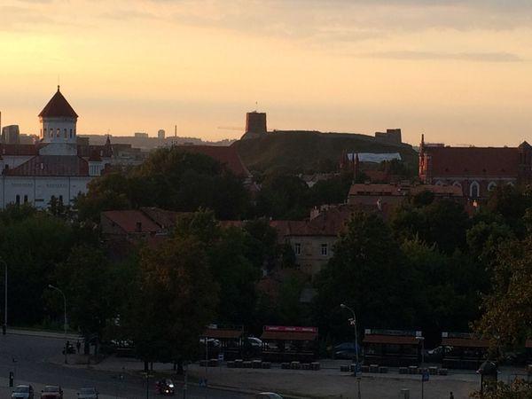 vilnius Sunset Cityscape Sky Outdoors