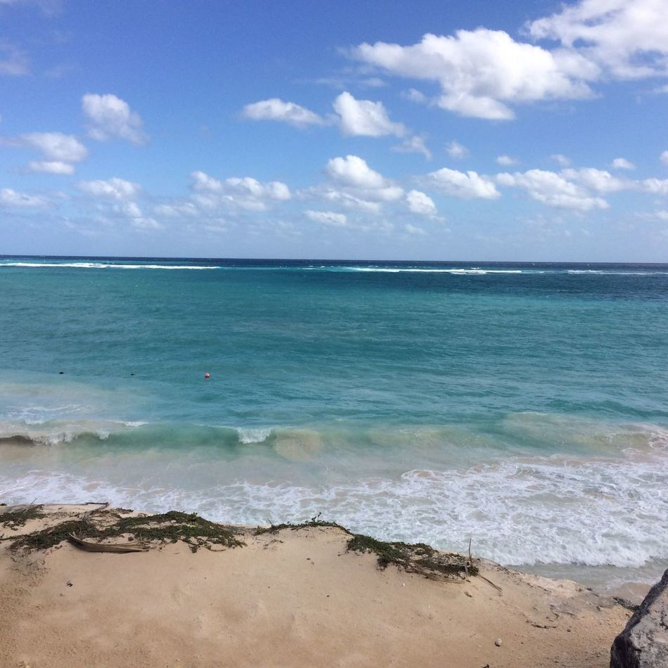 Sea Beach Sand Horizon Over Water Water Blue Vacations Travel Destinations Sky Outdoors Scenics No People Beauty In Nature Landscape Day Nature Landscape_Collection Paisajes Naturales Panoramic Landscape Mexico Playa Mar Tulum , Rivera Maya. Tulum Beach CARIBBEANLIFE