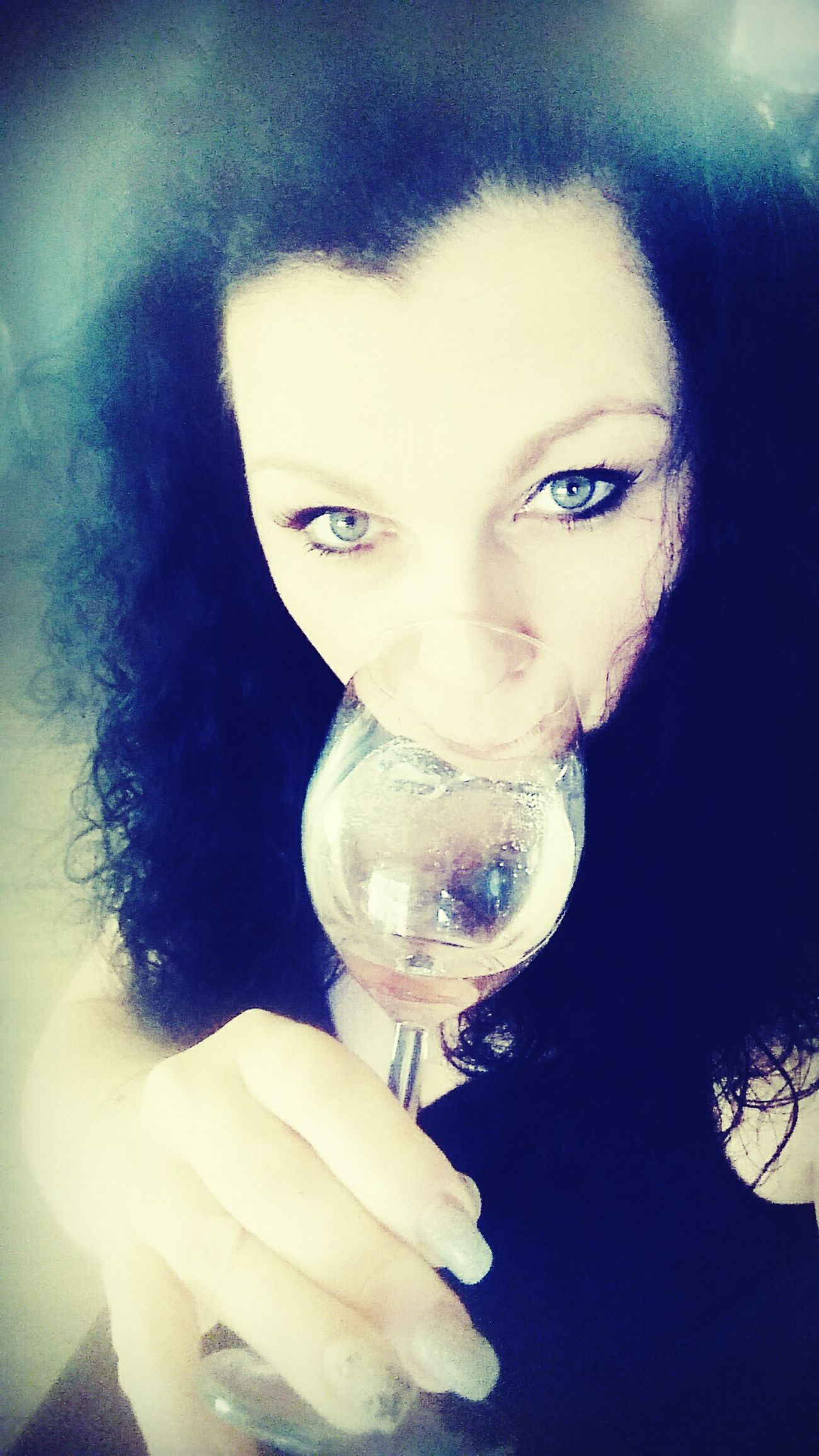 Cheers 🍸 Drinking Woman Woman Look Me In The Eyes Cherrs Happy