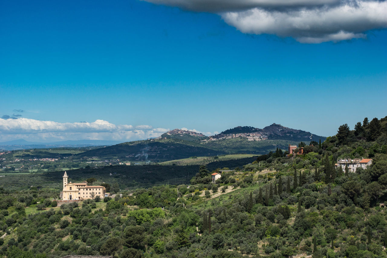 Tivoli Campagna Architecture Beauty In Nature Cloud - Sky Day Landscape Mountain Mountain Range Nature No People Outdoors Scenics Sky Tranquility Travel Destinations Tree Vacations Village Winding Road