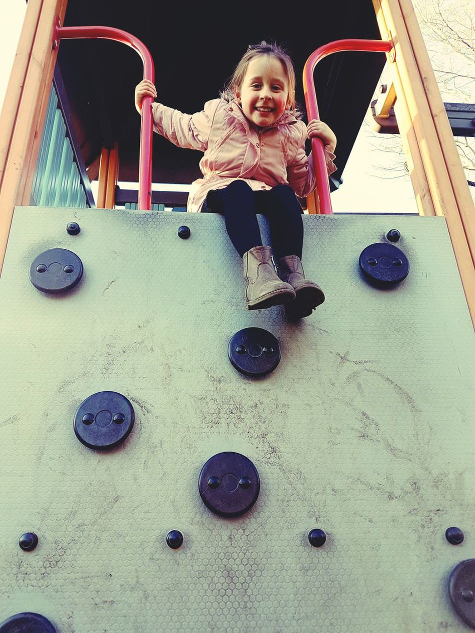 Childhood Full Length One Person Outdoor Play Equipment Day Playground Afterschool  Sunlight Sunny Day Young Girl Child Playing Having Fun Playground Fun Walking