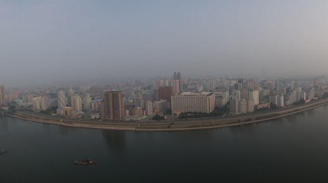 City View  North Korea Panorama Potong River Pyongyang
