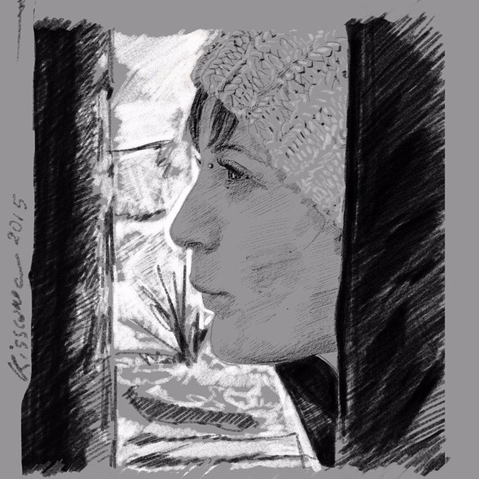 Sketch Digitaldraw Tavoletta Matita carboncino midiverto kisscane