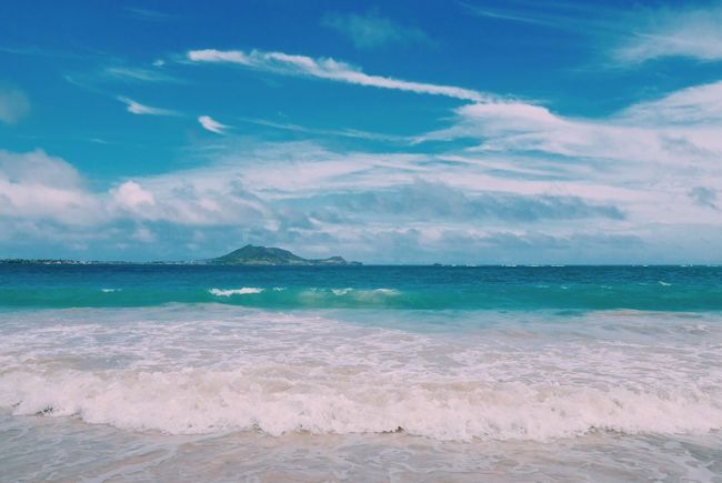 Waves, Ocean, Nature Wave Sea And Sky Sea Sky Beauty In Nature Surf Seascape Nature Blue OpenEdit Relaxing EyeEm Nature Lover Gopro Beach Day GoPrography Hawaii Oahu Kailua  Blue Sea Bluesky Beach Walk Vacations Beach
