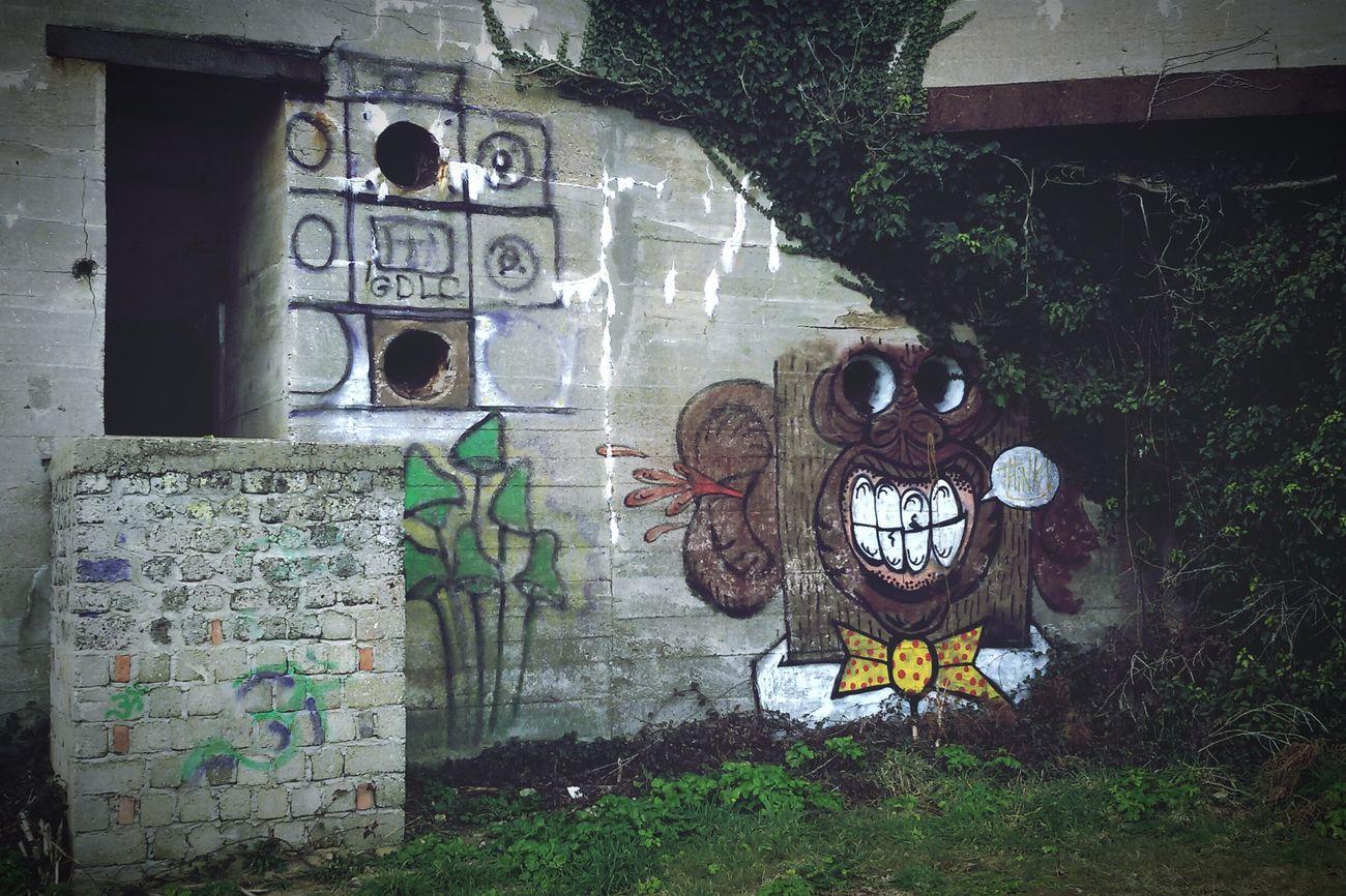 Funky Monk Bunker Graff Art Ww2 Gâvres Bretagne Abandoned Followme