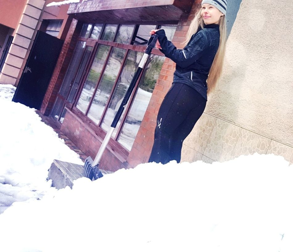 One Person People Working Real People Long Hair Sexylady Winter Snow ❄