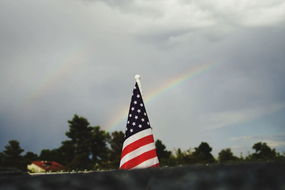 Beautiful stock photos of las vegas, American Flag, Cloud - Sky, Cloudy, Day