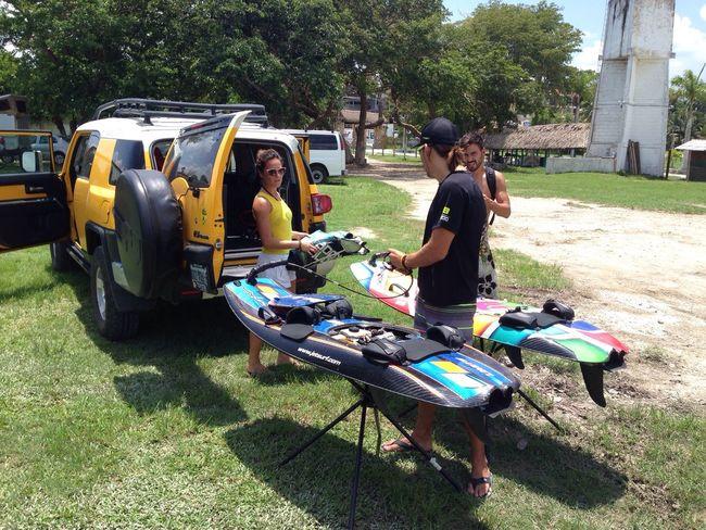 Preparando el jetsurf Jetsurf Bacalar Lagunadesietecolores Pueblomagico Quintanaroo Caribe Ruta111