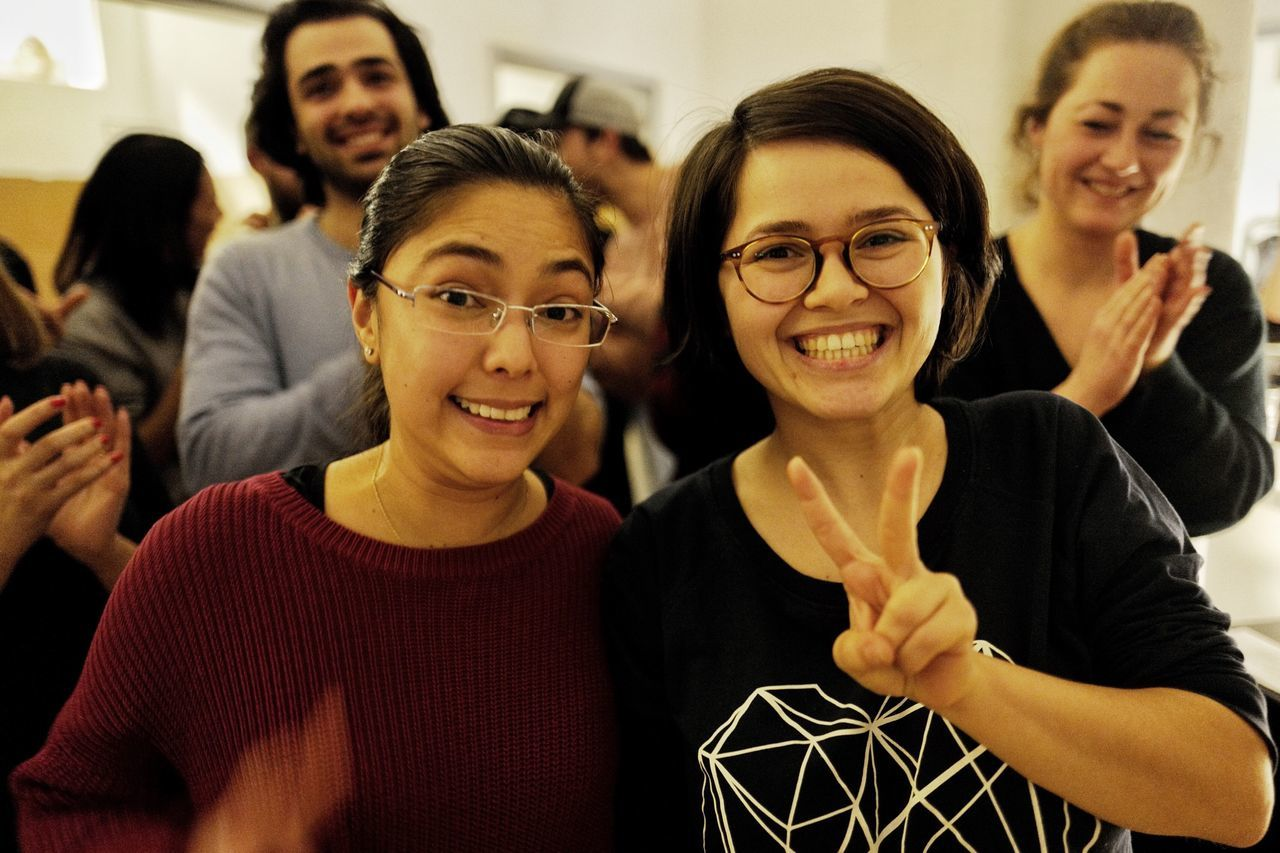 Dania & Miruna - The talented winners of our 2017 Team Hackathon. Future Of Photography Team Awesome