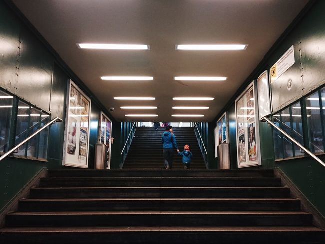 Subway Subway Station Stairs Urban Urban Geometry Mother And Son