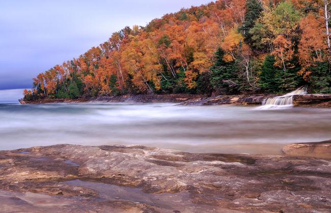 Autumn Elliot Falls Lake Superior Michigan Waterfalls Pictured Rocks National Lakeshore Pure Michigan Tranquility Upper Peninsula Waterfall