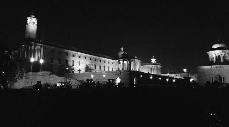 Rashtrapati Bhavan (President's Estate), New Delhi, India. Night Illuminated Architecture Government City Lutyens Lutyensdelhi Indiagate Centraldelhi New Delhi
