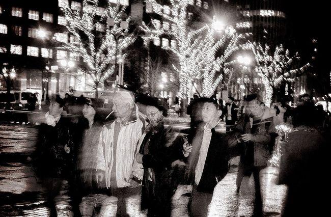 Street Photography Illuminations Sapporo Night Photography Odori Park Nightphotography EyeEm Best Shots - Black + White Night Light And Shadow Japan Photography EyeEm Japan Japanese Style Japan Japanese Culture Japanese  Black And White B&w Photography Monochrome B&w Street Photography Streetphotography Christmas Lights Night Lights