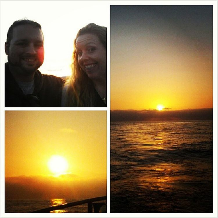 Sunset at sea! @daisyditzydo Romantic Relaxing Onaboat