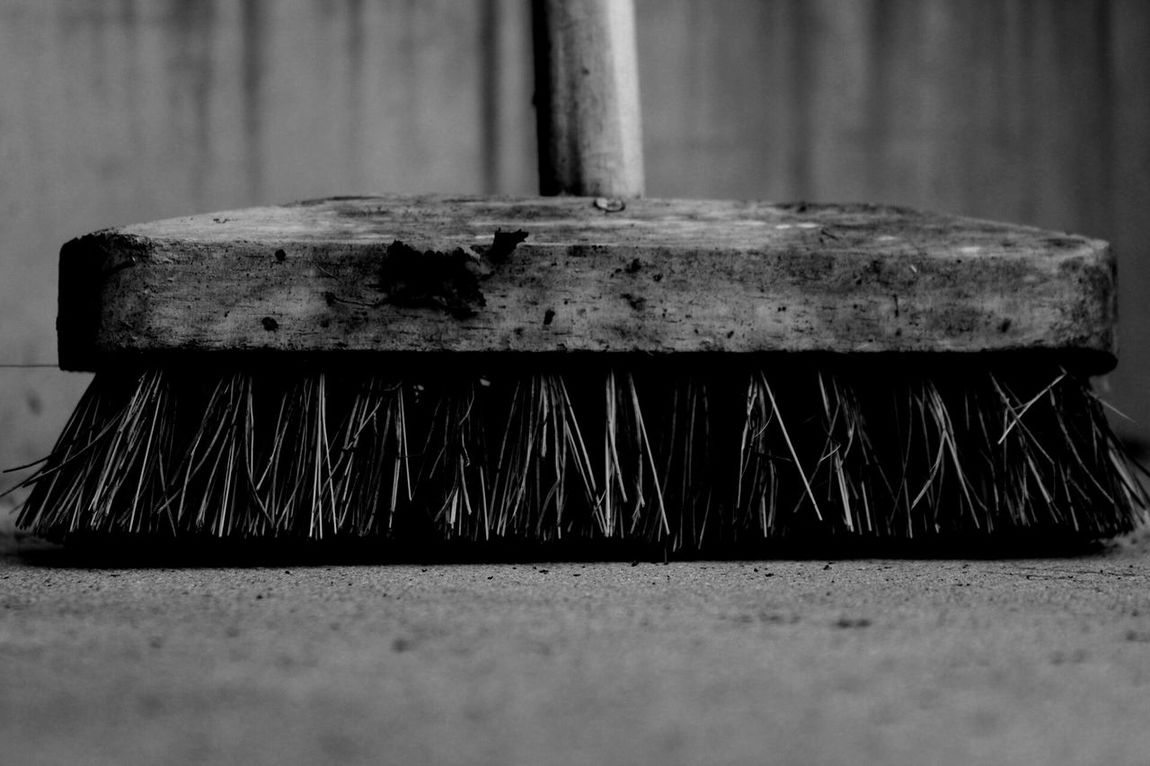 Cleaning Equipment Close-up No People Broom Brush Bristles