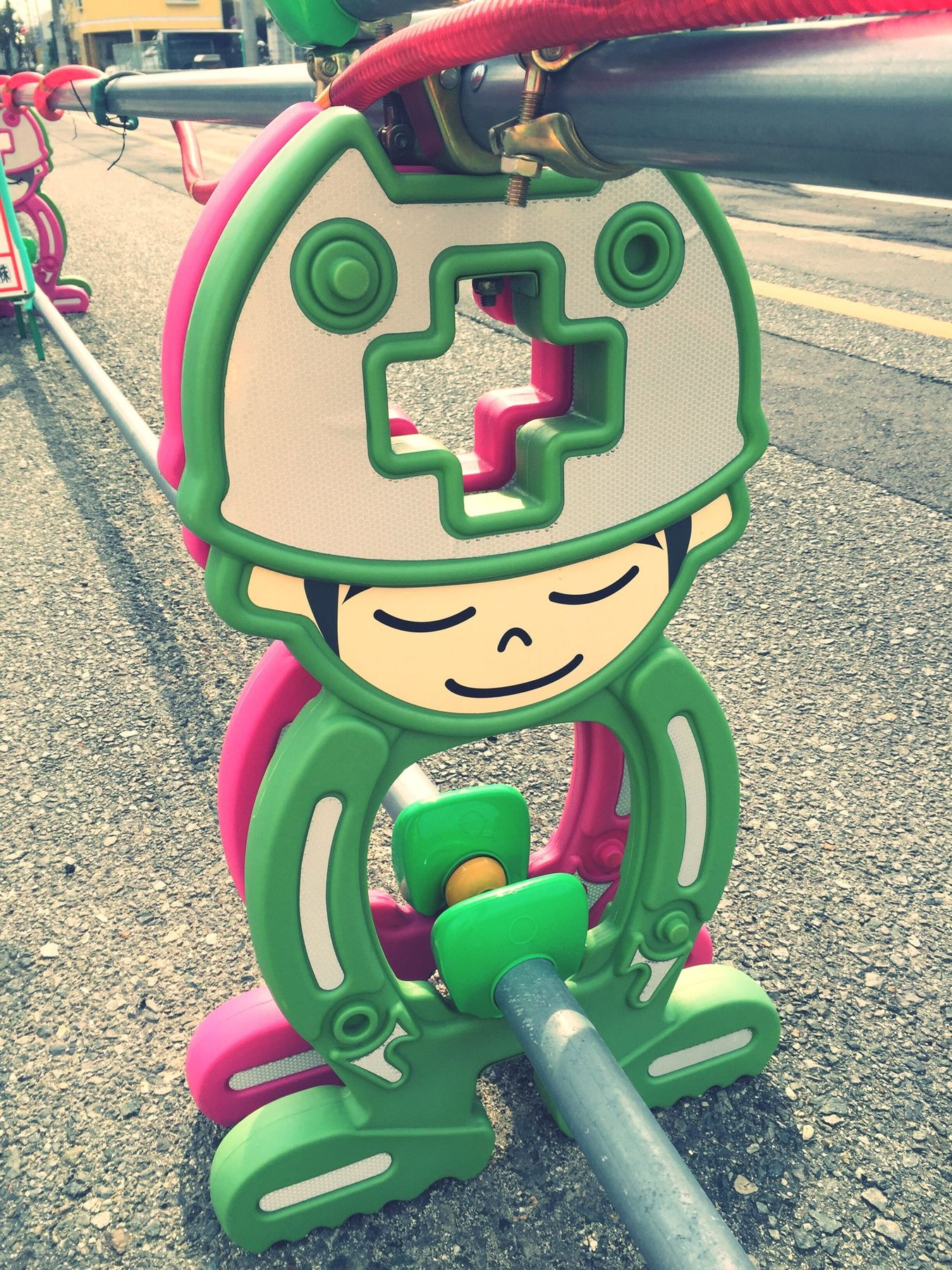 Construction Fence Boy Green Cute Kawaii💕 工事のフェンス EyeEm EyeEmJapan Hello World Iphone 6 EyeEm Daily 道路工事 Taking Photos By Me
