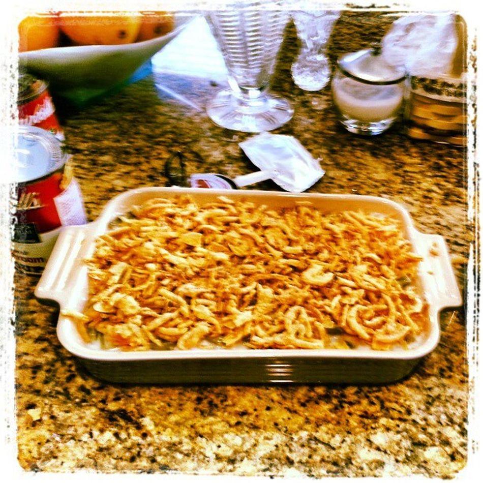 My Thanksgivings dish Fromscratch Greenbeancassarole