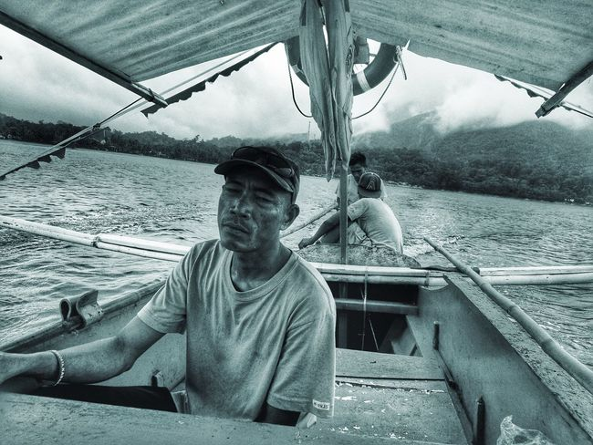 Water Outdoors Sojourner Black And White Blackandwhite Photography Blackandwhite Fisherman Fisherboat Monochrome EyeEm Best Shots Nature People And Places People And Places.