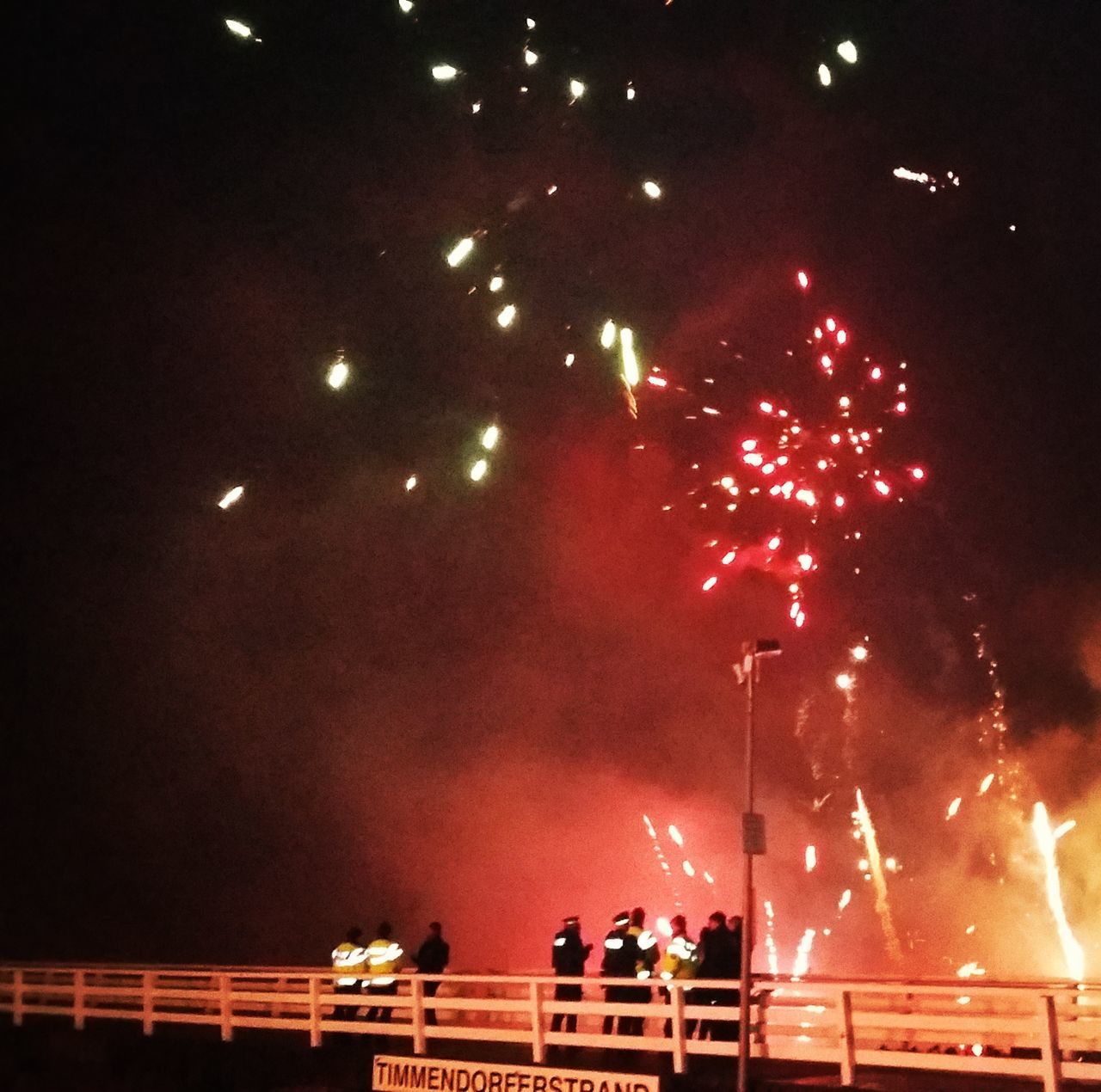Happy new year at all!!! Happy New Year Fireworks Party Timmendorfer Strand Seebrücke Ostsee