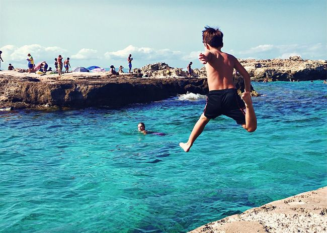 jump!! EyeEm Best Shots EyeEm Gallery IPhoneography Mobilephotography Summer Fun Childhood Sea Jump Streetphotography My Favorite Place People And Places People And Places. The EyeEm Facebook Cover Challenge Showcase September Summer Views