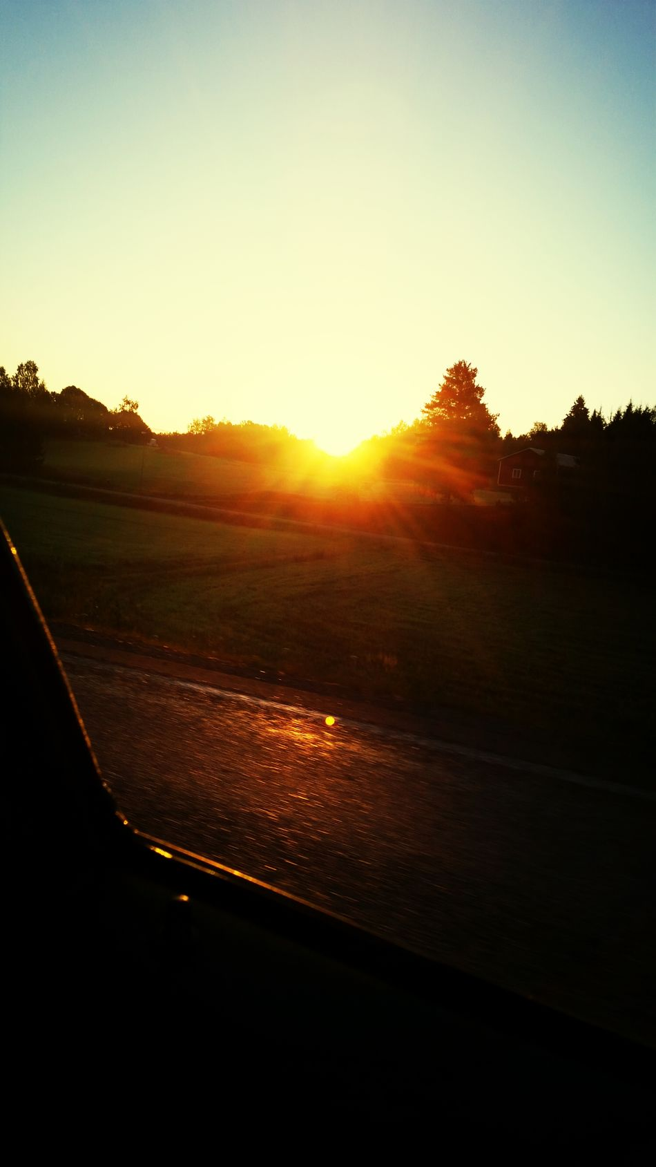 On my way to work. Well that was this morning. ☺ Awesome Beautiful Sunrise Great Day