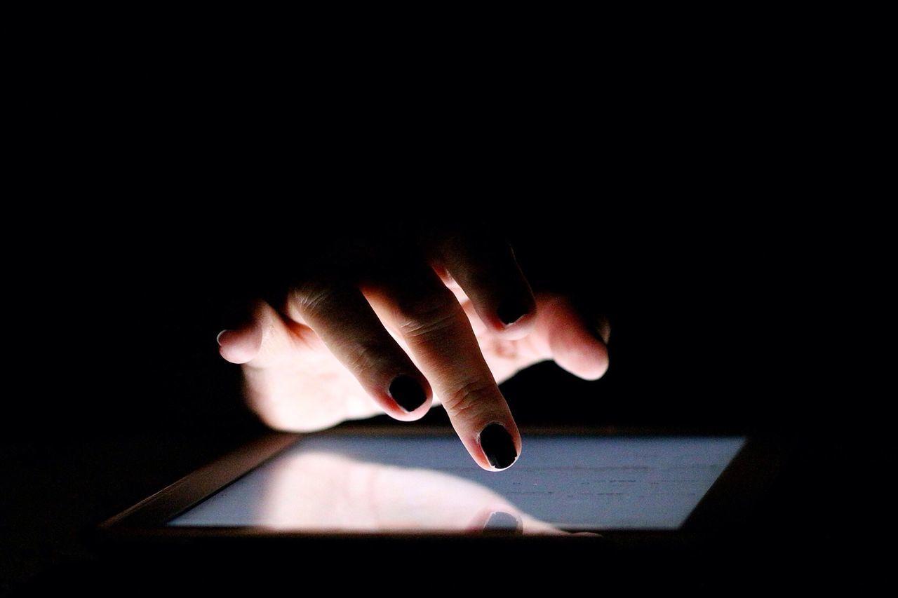 Tablet Hand Computer EyeEm Best Shots Darkness And Light