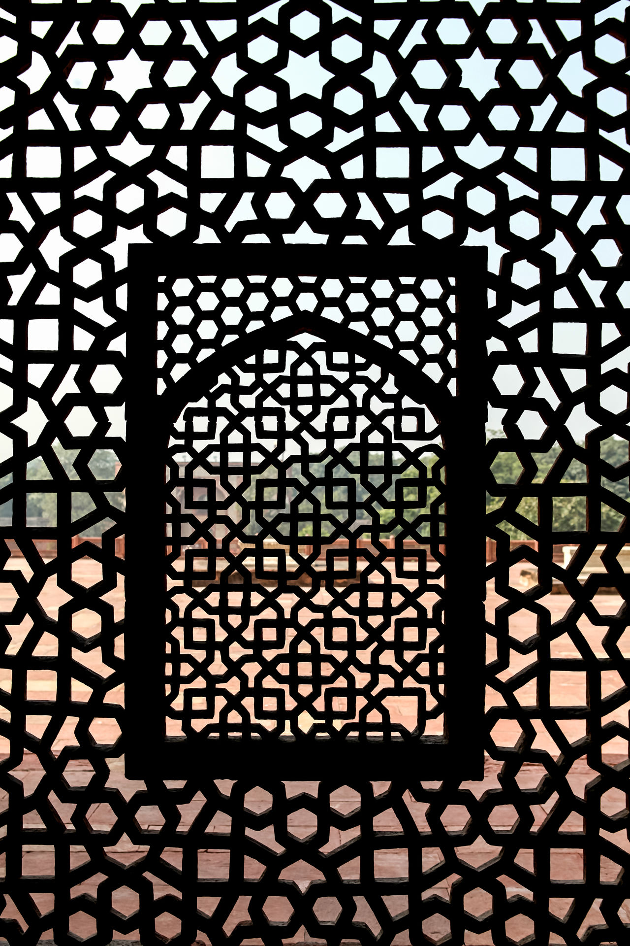 pattern Architectural HumayunTomb India Geometric Shapes Geometric Craftmanship Stone Craft Jali Indoors  built structure Full Frame Design Backgrounds Architecture Grid Day