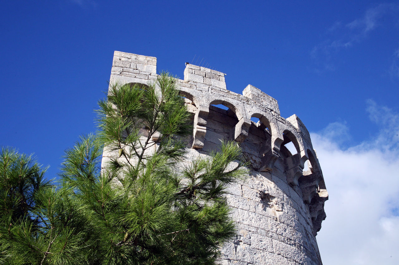 Korcula ancient architecture stone details,Croatia,Europe,1 Adriatic Coast Ancient Architecture Building Exterior Built Structure Castle Clear Sky Croatia Day Eu Europe Fortress Korčula Low Angle View Nature No People Old Outdoors Place Of Worship Tourism Winter