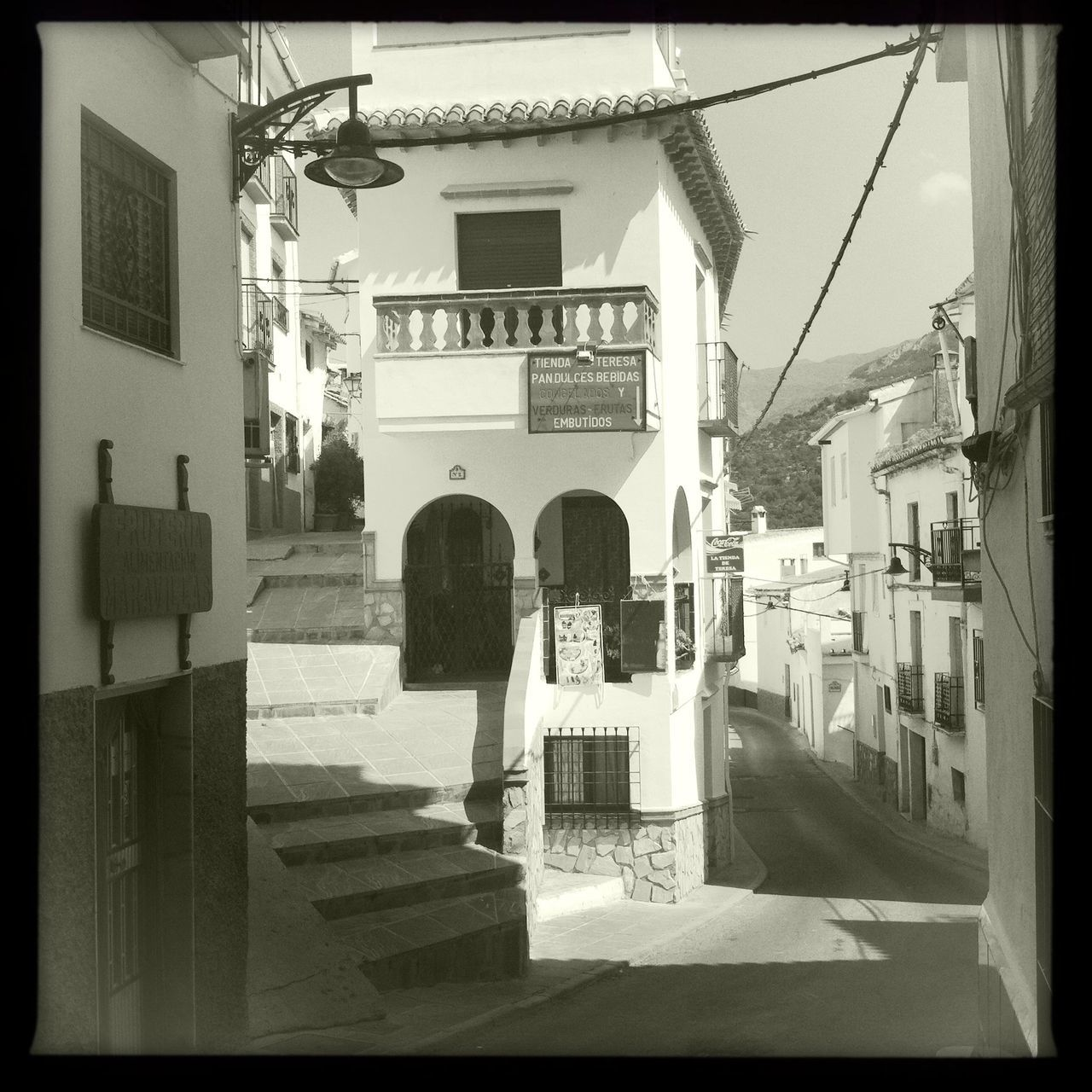 Village Building Exterior Architecture Outdoors White Town Quiet Town Andalucia Spain Granada, Spain