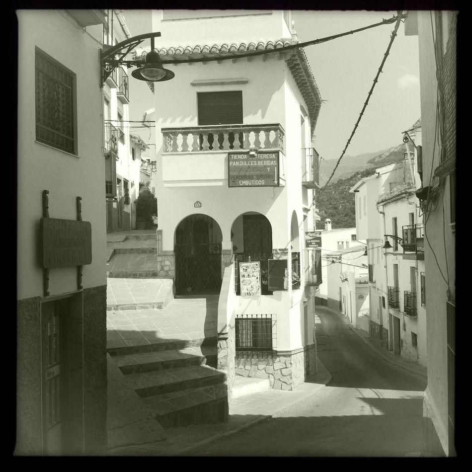 Village Building Exterior Architecture Outdoors White Town Quiet Town Andalucia Spain Granada, Spain